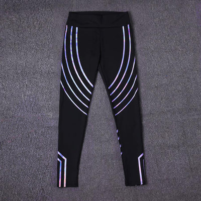 Rainbow Laser Leggings
