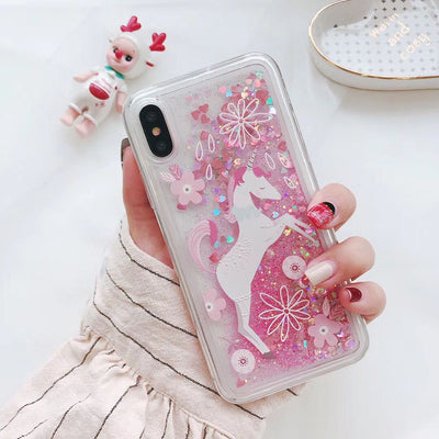 Unicorn Pink Glitter Phone Case