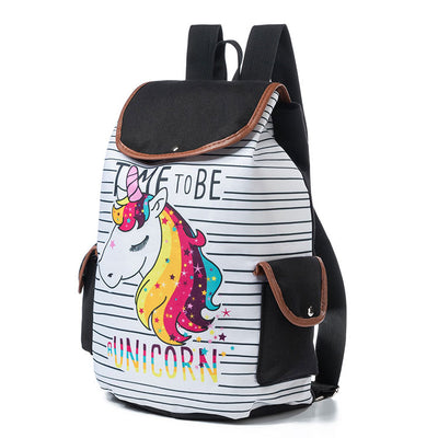 Cartoon Unicorn Printed Backpack - Well Pick Review