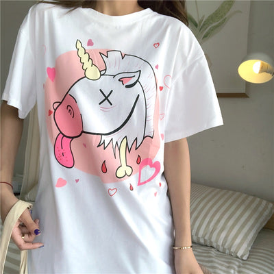 Unicorn Harajuku Casual Loose Top