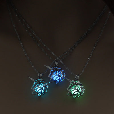 Unicorn Glow In The Dark Necklace