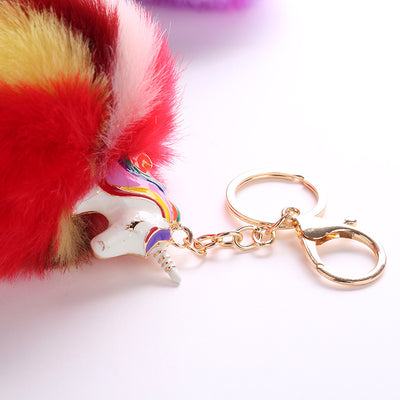 Unicorn Pompom Keychains - Collections