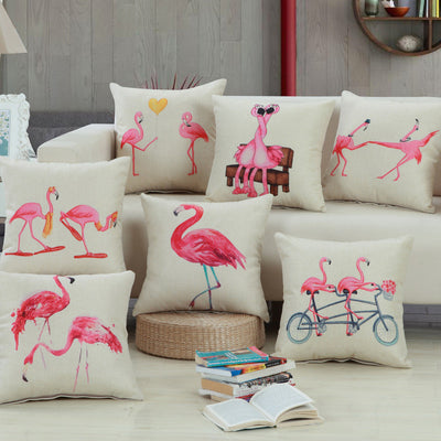 High Quality Flamingos Cushion Pillow Cover