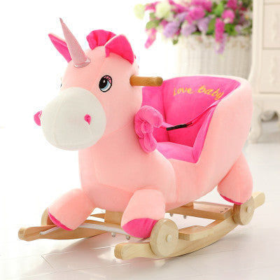 2 in 1 Music Unicorn Wooden Wheel Kids Carrier - Well Pick Review