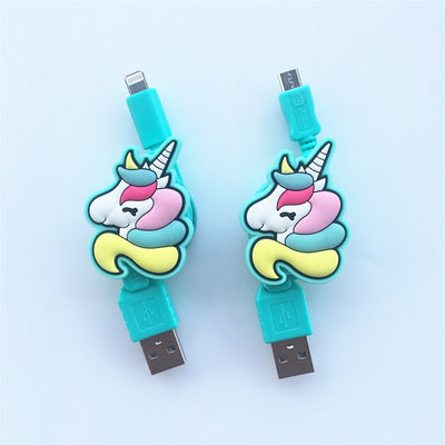 Magical Unicorn Reversible USB Charging Cable