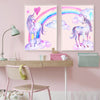 Rainbow Unicorn Canvas Wall Art