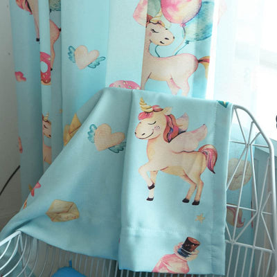 Unicorn Window Curtain