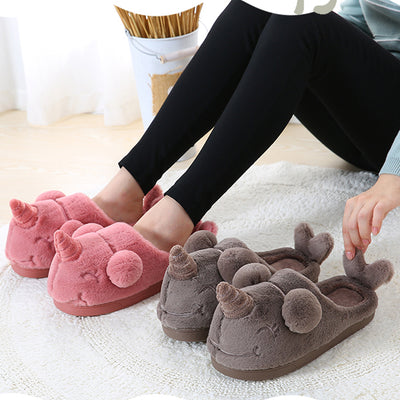 Unicorn Narwhal Plush Slippers