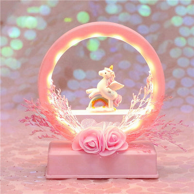 Unicorn Night Light Music Box