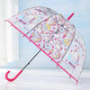 Cute Unicorn Transparent Long Umbrella