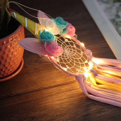 LED Light Unicorn Dreamcatcher