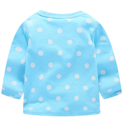 Long Sleeve Dotted Sky Blue Unicorn Sweatshirt