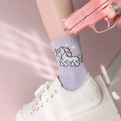 Lovely Cartoon Unicorn Socks