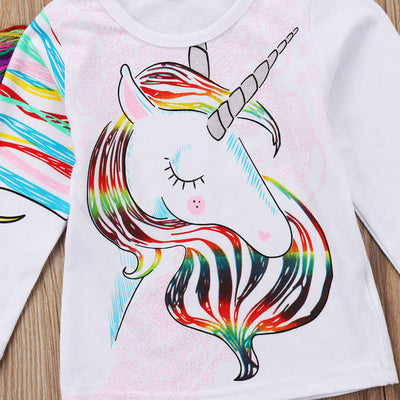 Tassels Unicorn Girl T-shirt