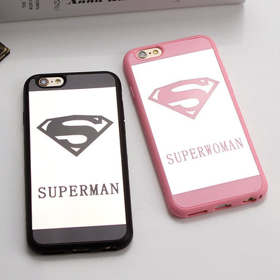 Superman Superwoman Couple Phone Mirror Case