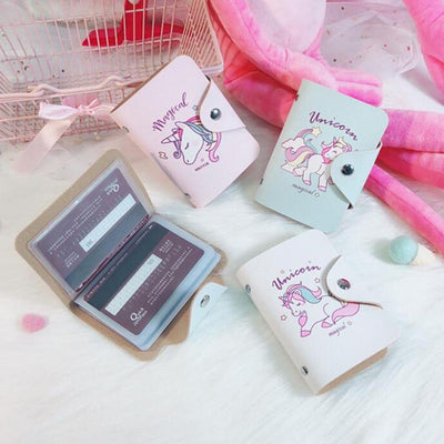 Free - Cartoon Unicorn Cards Holder