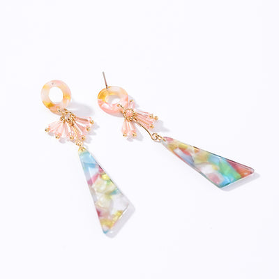 Triangle Acrylic Long Earrings