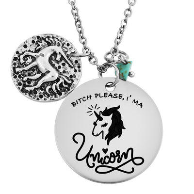 """Bitch Please, I'm A Unicorn"" Pendant Necklace - Well Pick Review"
