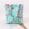 Mint Flamingos Print Tote Bag