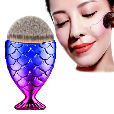 Fantasy Pink Blue Mermaid Makeup Brush - Well Pick