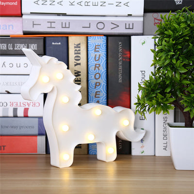 Red/White Unicorn LED Night Lamp