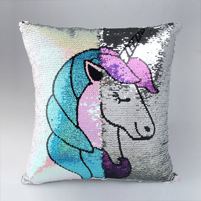 Unicorn Reversible Sequin Cushion Cover