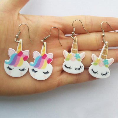 Free - Hair Bow Unicorn Earrings