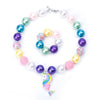 Unicorn Mermaid Necklace & Bracelet Set