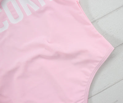 Pink Unicorn Sexy One Piece Swimsuit