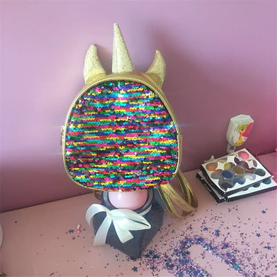 Mini Sequins Unicorn Backpack
