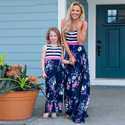 Floral Mom and Daughter dress