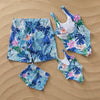 Leaf Print Family Matching Swimsuit