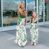 Green Leaf Mom Daughter Dress
