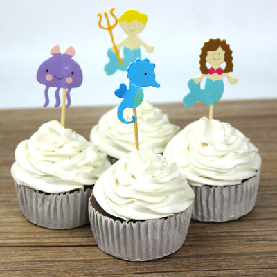 72pcs Ocean Style Mermaid Party Cupcake Toppers - Well Pick Review