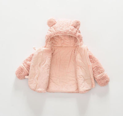 Soft Bear Ears Hooded Jacket