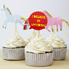 Unicorns Theme Party Cupcake Toppers