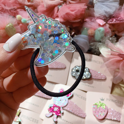 Sequins Unicorn Hair Tie