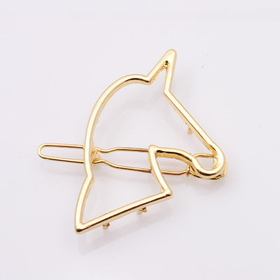 2 Colors Gold Plated Unicorn Hairpin - Well Pick Review