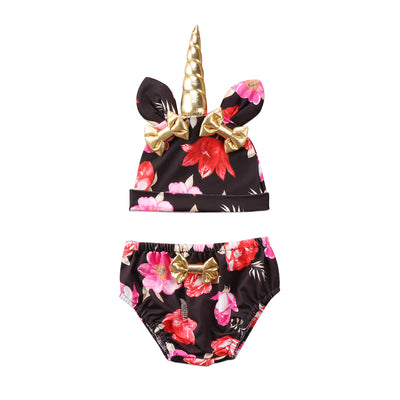 Baby Floral Unicorn Hat & Bottom Set - Well Pick Review