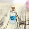 Mermaid Tears Shells Star Vial Necklace