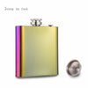 Iridescent Rainbow Hip Flask With Free Funnel