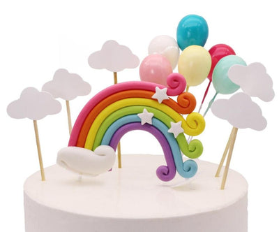 Rainbow Unicorn Cake Topper Party Supplies