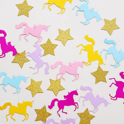 100pcs/lot Rainbow Unicorn with Stars Confetti Party Decoration - Well Pick Review