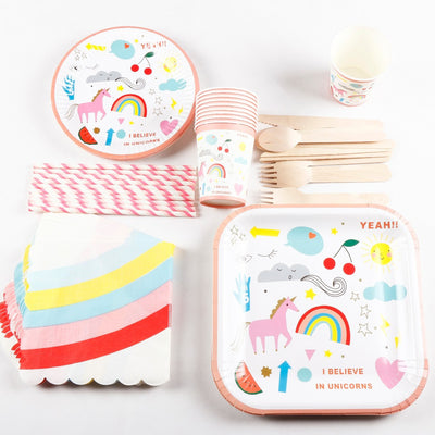 10 sets Disposable Tableware Unicorn Party Supplies - Well Pick Review