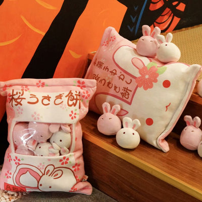 Bag of Mini Rabbits Pillow - Well Pick Review