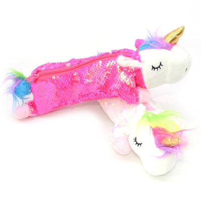 Sequin Unicorn Pencil Case