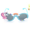 Shiny Blue Unicorn Party Sunglasses