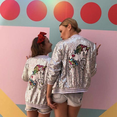 Sequins Unicorn Girl Jacket