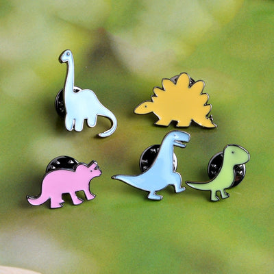 Colorful Dinosaur Apatosaurus Stegosaurus Brooch - Well Pick Review