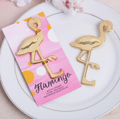 Gold Metal Flamingo Wine Opener